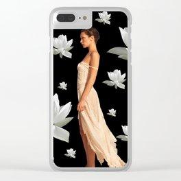 Bella Black Clear iPhone Case