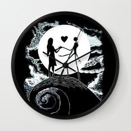 Jack and sally Nightmare Wall Clock
