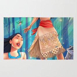 Pocahontas & Moana Rug