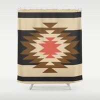 aztec Shower Curtains featuring Aztec 1 by Aztec