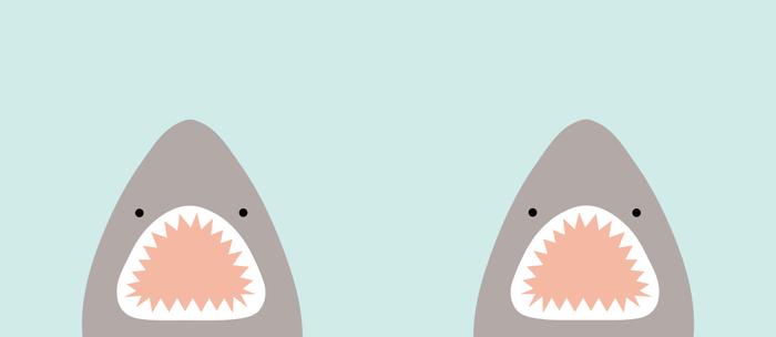 shark attack Kaffeebecher