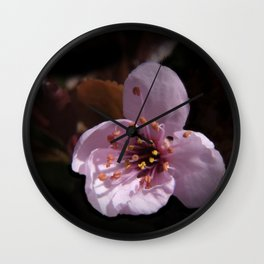 japanese cherrytree-blossom on black -1- Wall Clock