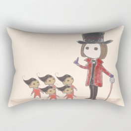 Willy Wonka and Oompa Loompa Rectangular Pillow