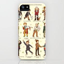 The Twelve Doctors of Christmas iPhone Case