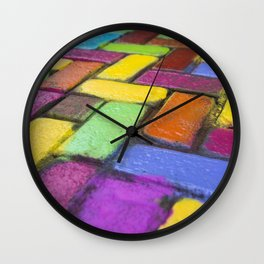 Riot of Colour Wall Clock
