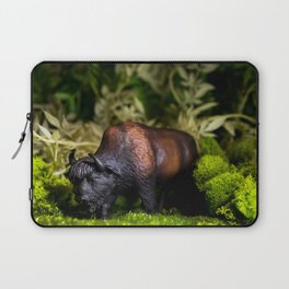 A Bison/Buffalo in lush greenery Laptop Sleeve