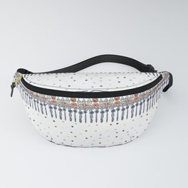 Retinal Circuitry - Color on White Fanny Pack