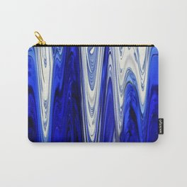 Zigzag Cobalt Blue Carry-All Pouch