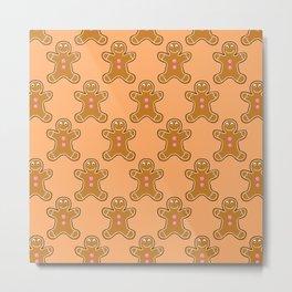 Brown Gingerbread Men Metal Print