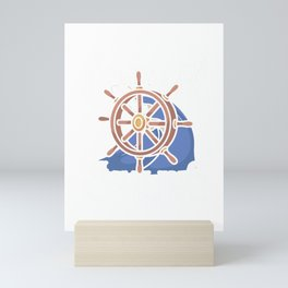 Sailing with a chance of drinking Mini Art Print