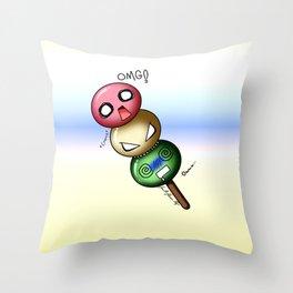 Dango Danger Throw Pillow