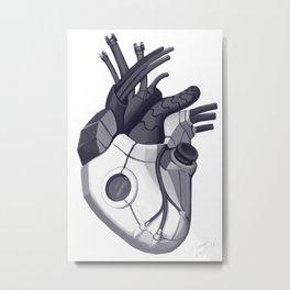 Cyberpunk heart Metal Print