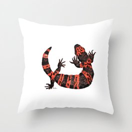 Gila Monster Throw Pillow