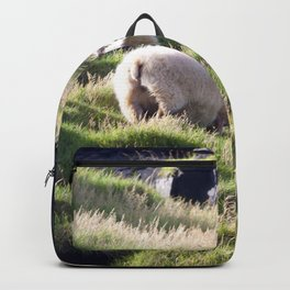 Watercolor Sheep, Domestic Sheep 12, Heimaey, Iceland Backpack
