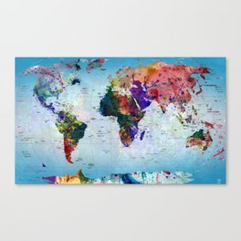 map Canvas Print
