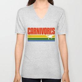 Carnivores Retro T Shirt Unisex V-Neck