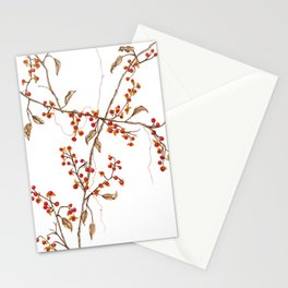 Of red and leaves Stationery Cards