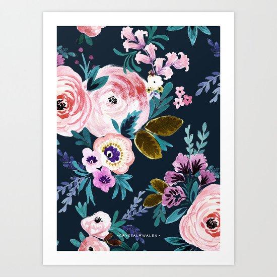 Moody Victoria Flower Art Print