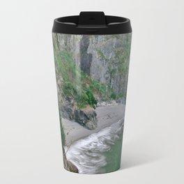 Oregon Coast Beach Photography - Trees and Ocean Travel Mug