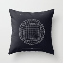 The Space Between the Lines Throw Pillow