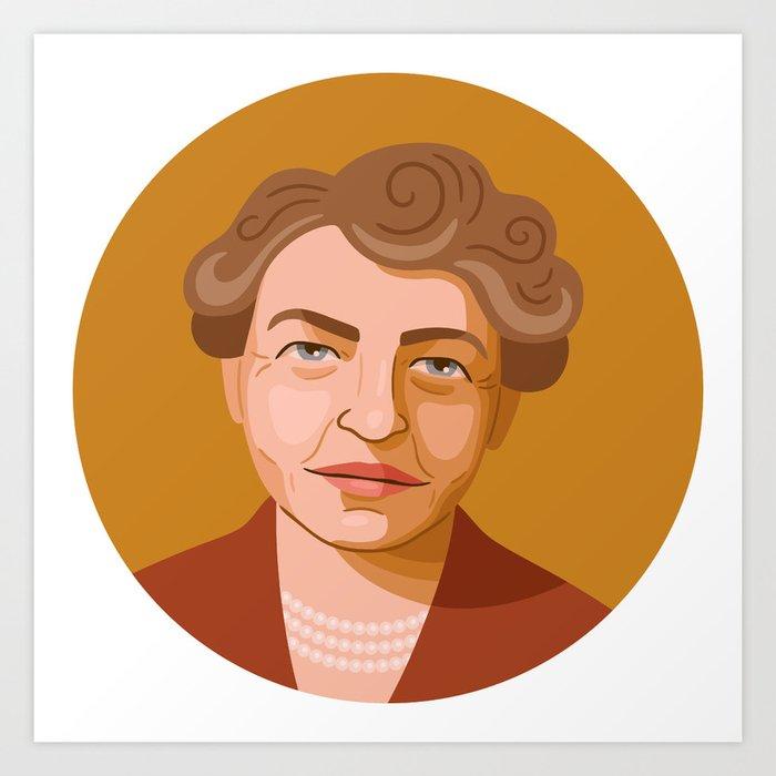 Queer Portrait - Eleanor Roosevelt Art Print