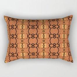African Horn Print Spice Rectangular Pillow