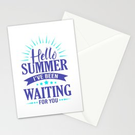 Hello Summer I've Been Waiting For You pb Stationery Cards