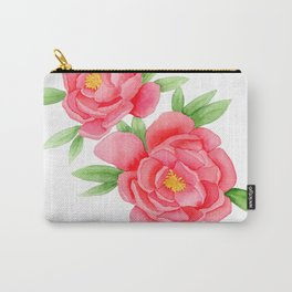 Watercolor Peonies Carry-All Pouch