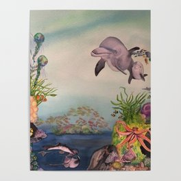 Journey Under the Sea by Maureen Donovan Poster