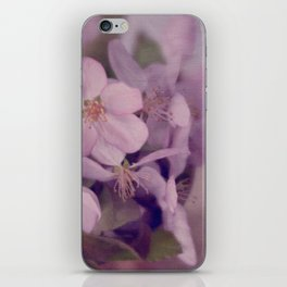 Purple Painted Blossoms iPhone Skin