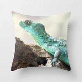Plumed Basilisk Throw Pillow