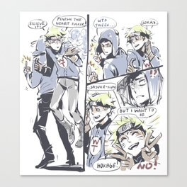 creek_comic_sketchy_ messy Canvas Print