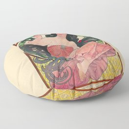 Alphonse Mucha Job Rolling Papers Art Nouveau Woman Floor Pillow