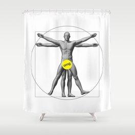 Vitruvian Brag Shower Curtain
