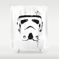 trooper Shower Curtains featuring Trooper by Purple Cactus