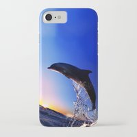 dolphin iPhone & iPod Cases featuring DOLPHIN by Ylenia Pizzetti