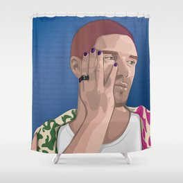 Mean It  Shower Curtain