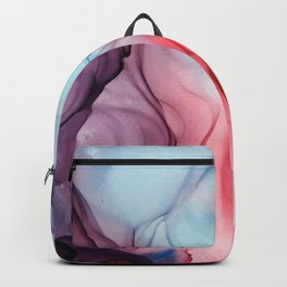Flame Fired Alcohol Ink Painting Backpack