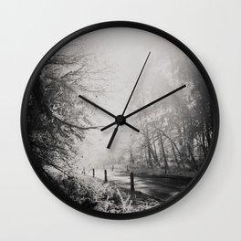 any road photograph Wall Clock