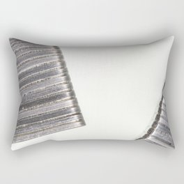 Abstract image composed of two office staples slats Rectangular Pillow