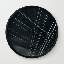 High Voltage Intersection Wall Clock
