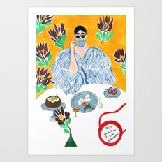 Olympia Le-tan Breakfast Art Print