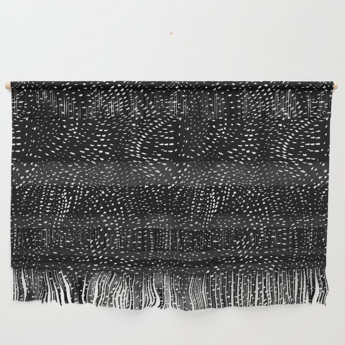 white on black dots Wall Hanging