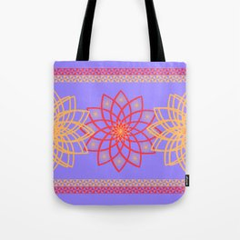 Stylized flowers Tote Bag