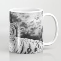 tigers Mugs featuring Two Tigers by Thubakabra