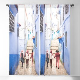 Sunny days Ahead - Chefchaouen, Morocco - The Blue City Blackout Curtain