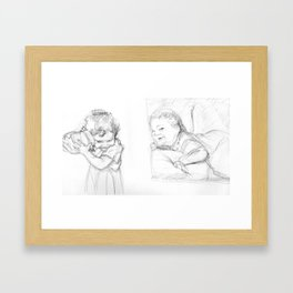 Studies of Lilah Framed Art Print