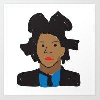 basquiat Art Prints featuring Basquiat by John Sailor