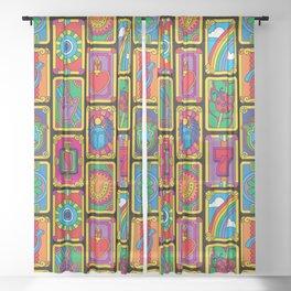 Good Luck Charms Sheer Curtain