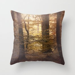 Autumn Came, With Wind & Gold. Throw Pillow